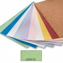 Papier s metalickými vláknami - zelený